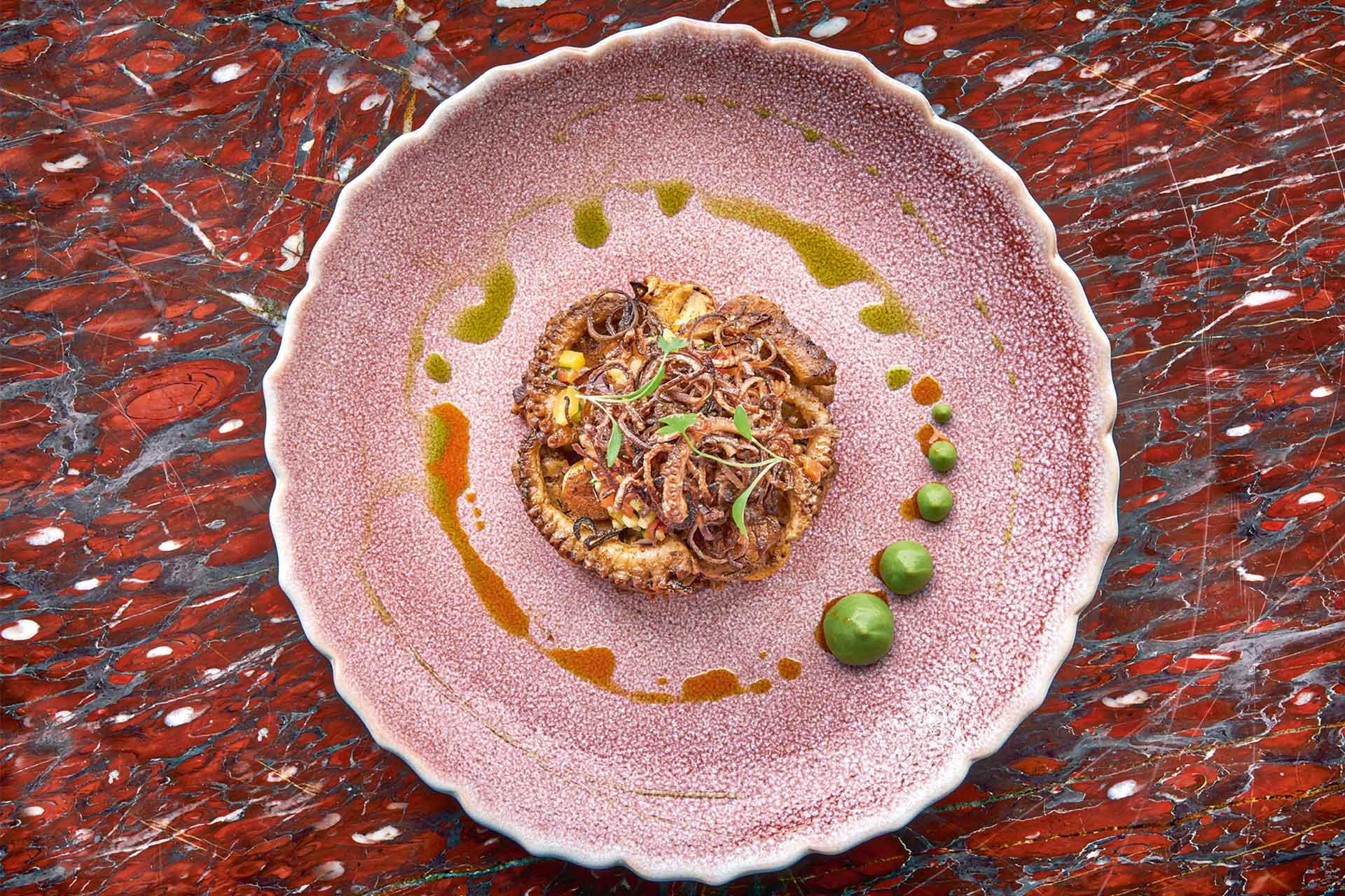 Ella Canta serves an eye-catching octopus dish