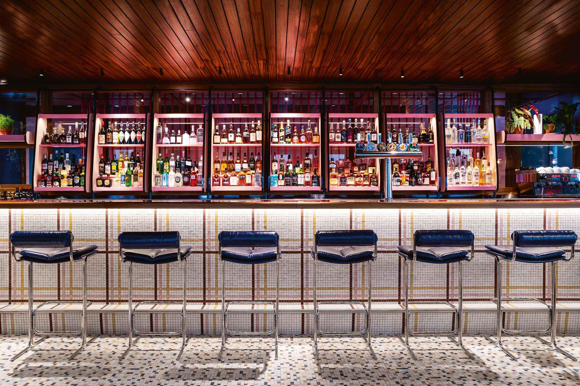 The Double Standard bar inside The Standard in King's Cross