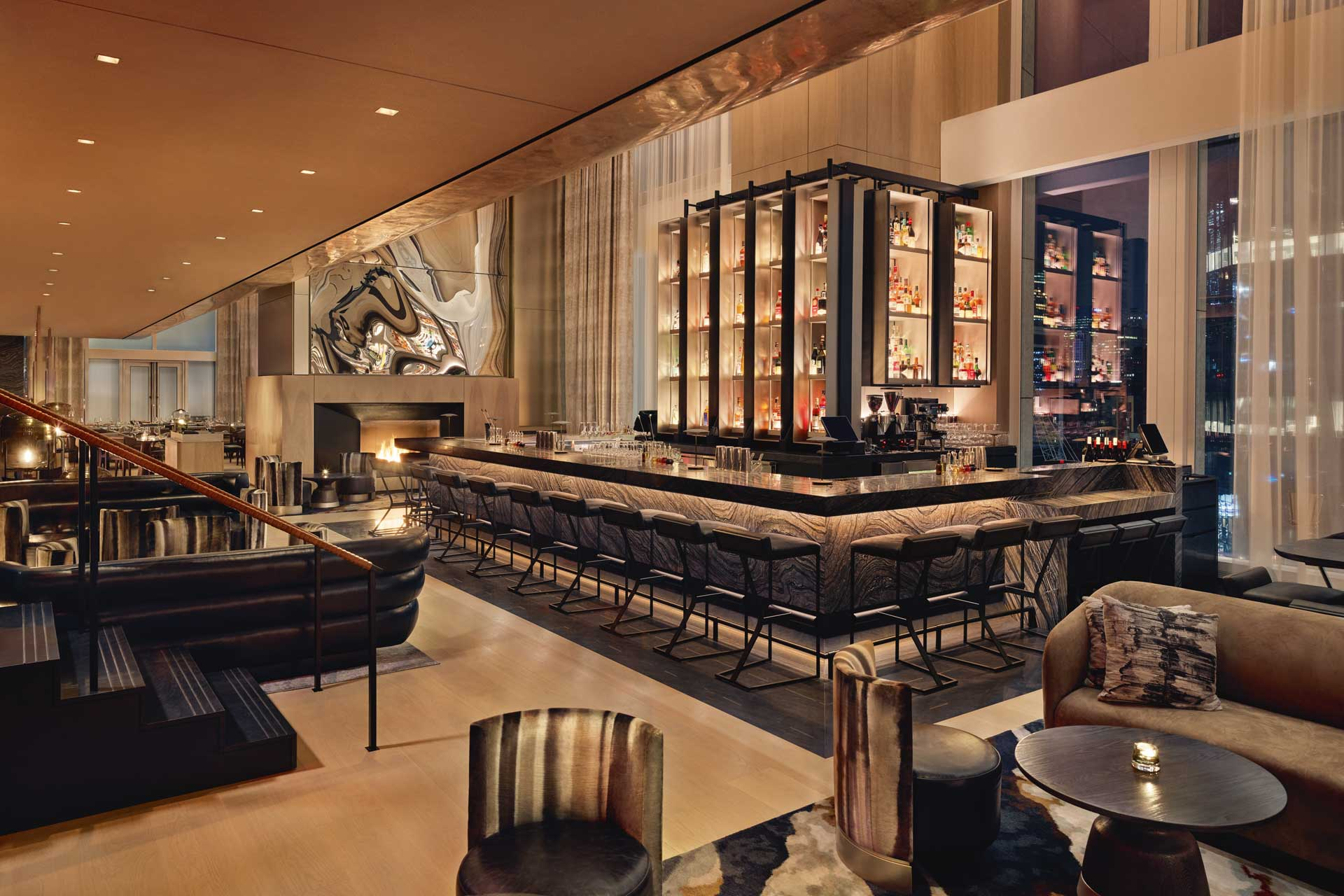 An F&B venue at Equinox Hotel in New York