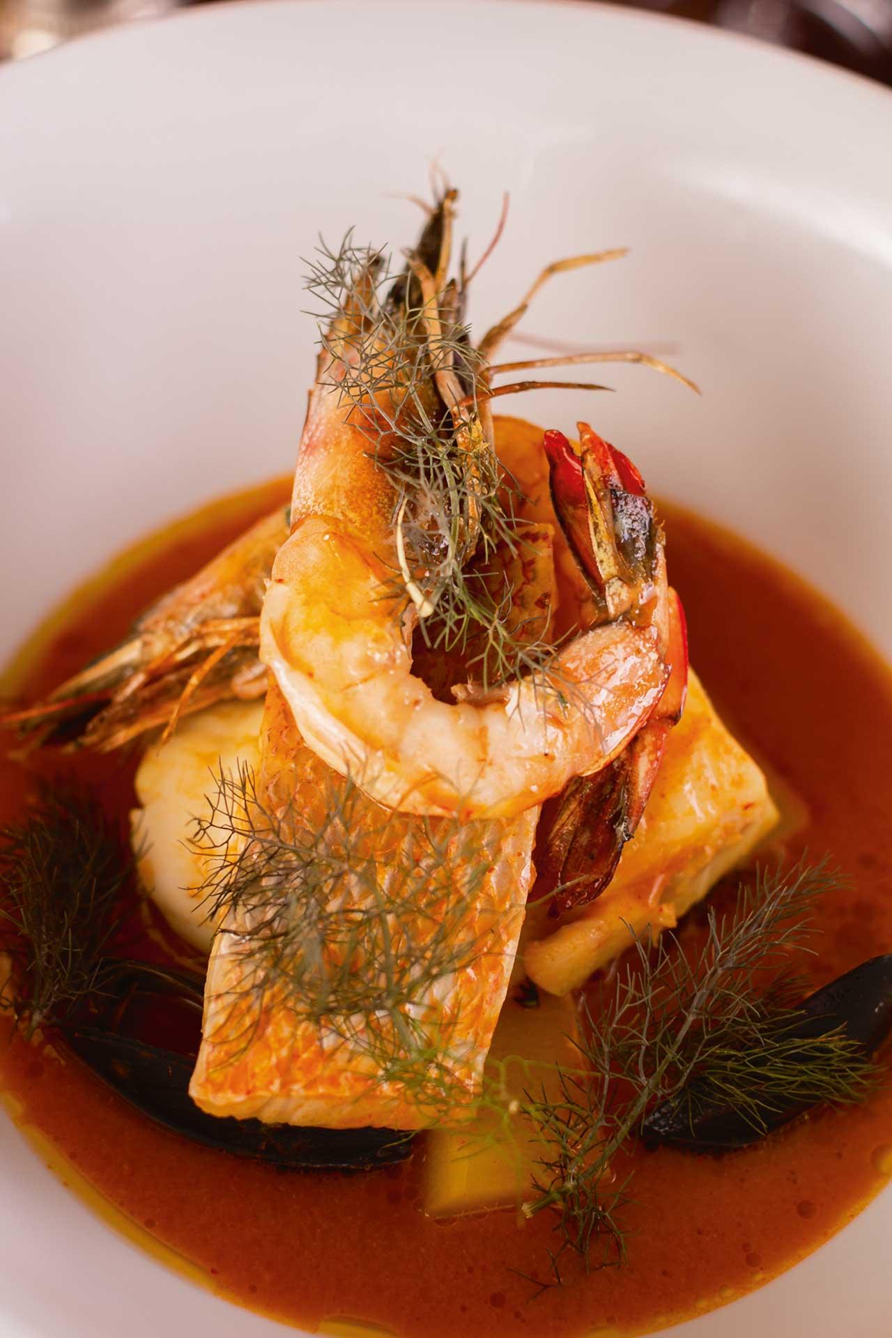 Bouillabaisse Tetou is one of Cathédrale's signature dishes