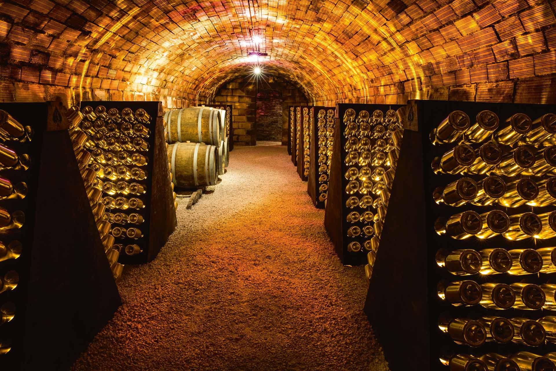 Wine cellar for Jay-Z's champagne brand Armand de Brignac