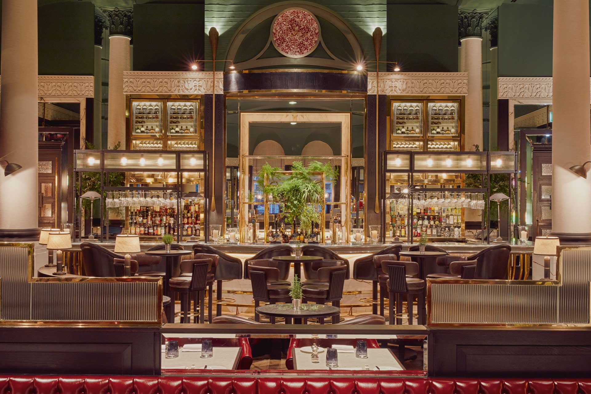 Bar area of Tom Kerridge's restaurant Kerridge's Bar & Grill
