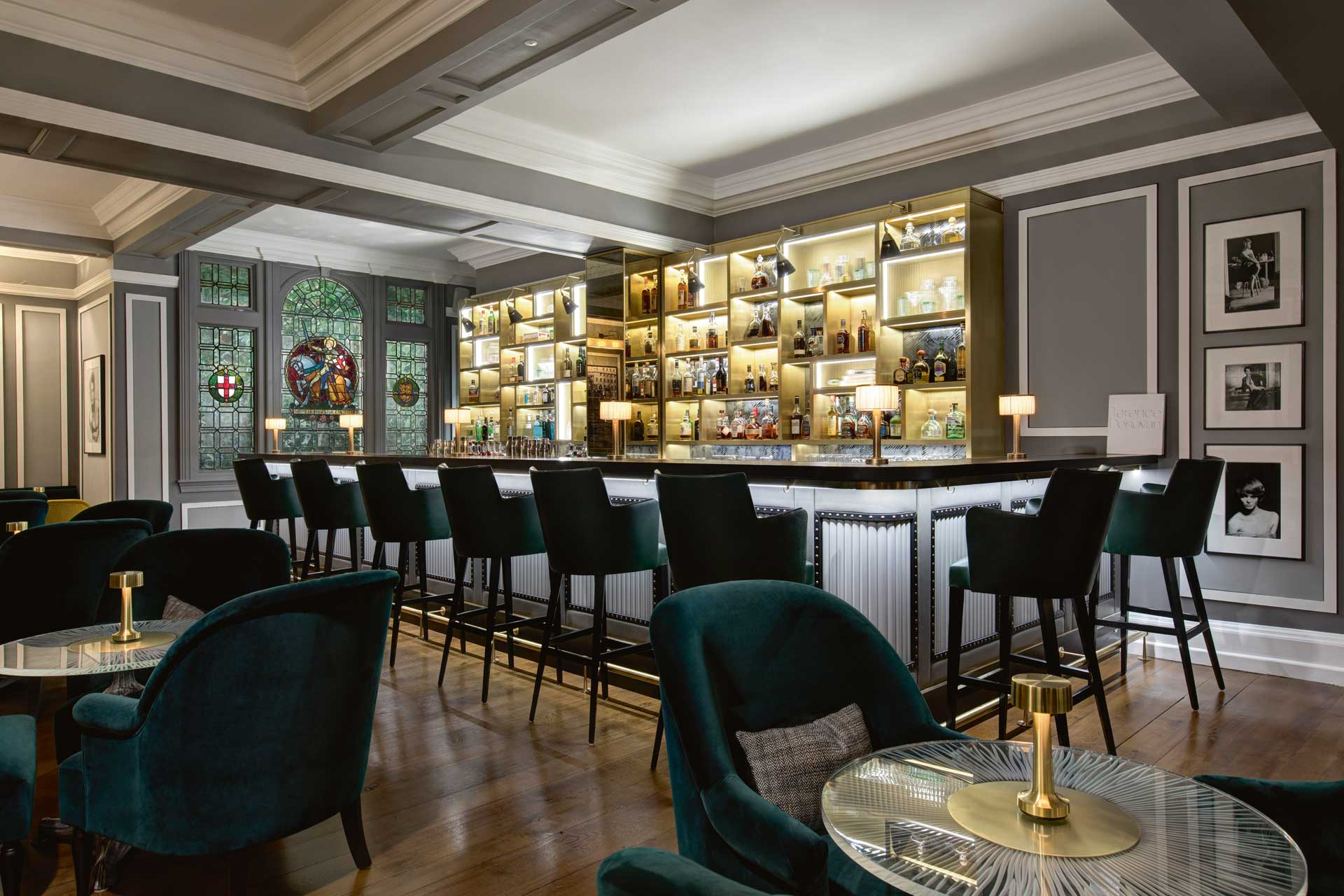 Interiors of Donovan Bar at Brown's Hotel, part of Rocco Forte Hotels