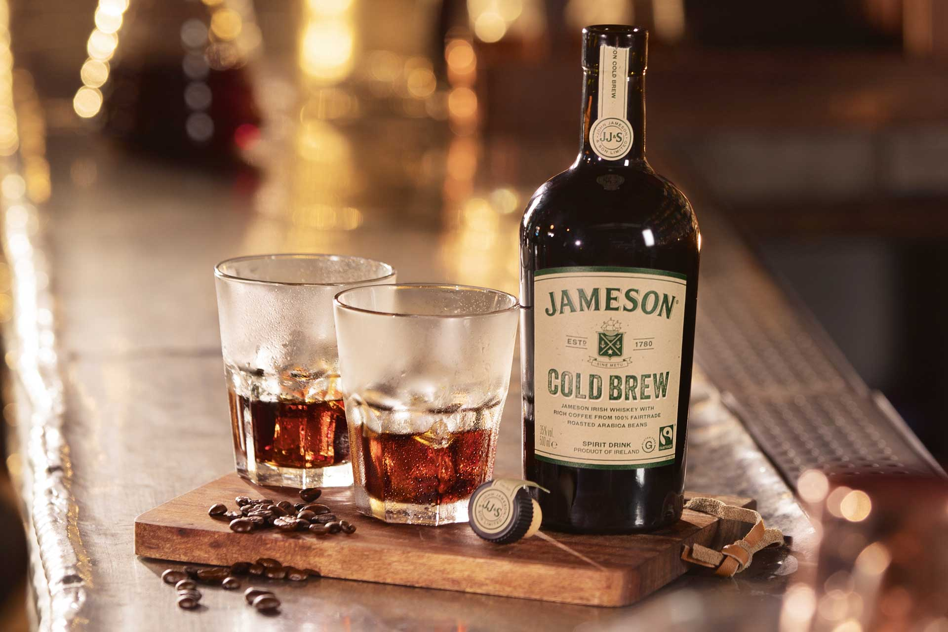 Jameson Cold Brew combines Irish whiskey with Arabica coffee beans