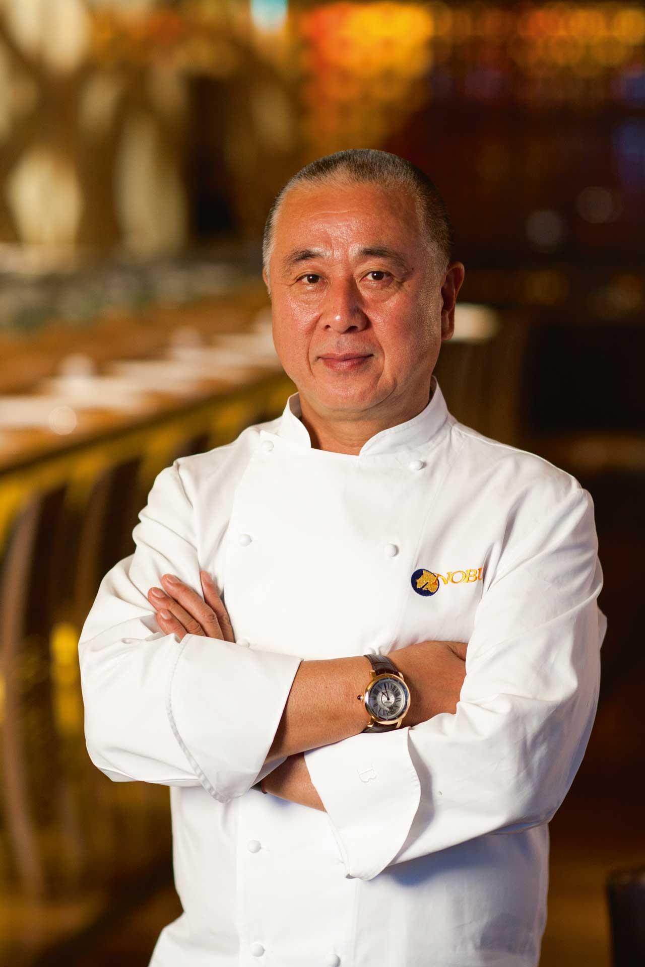Nobu Matsuhisa, the internationally renowned Japanese chef