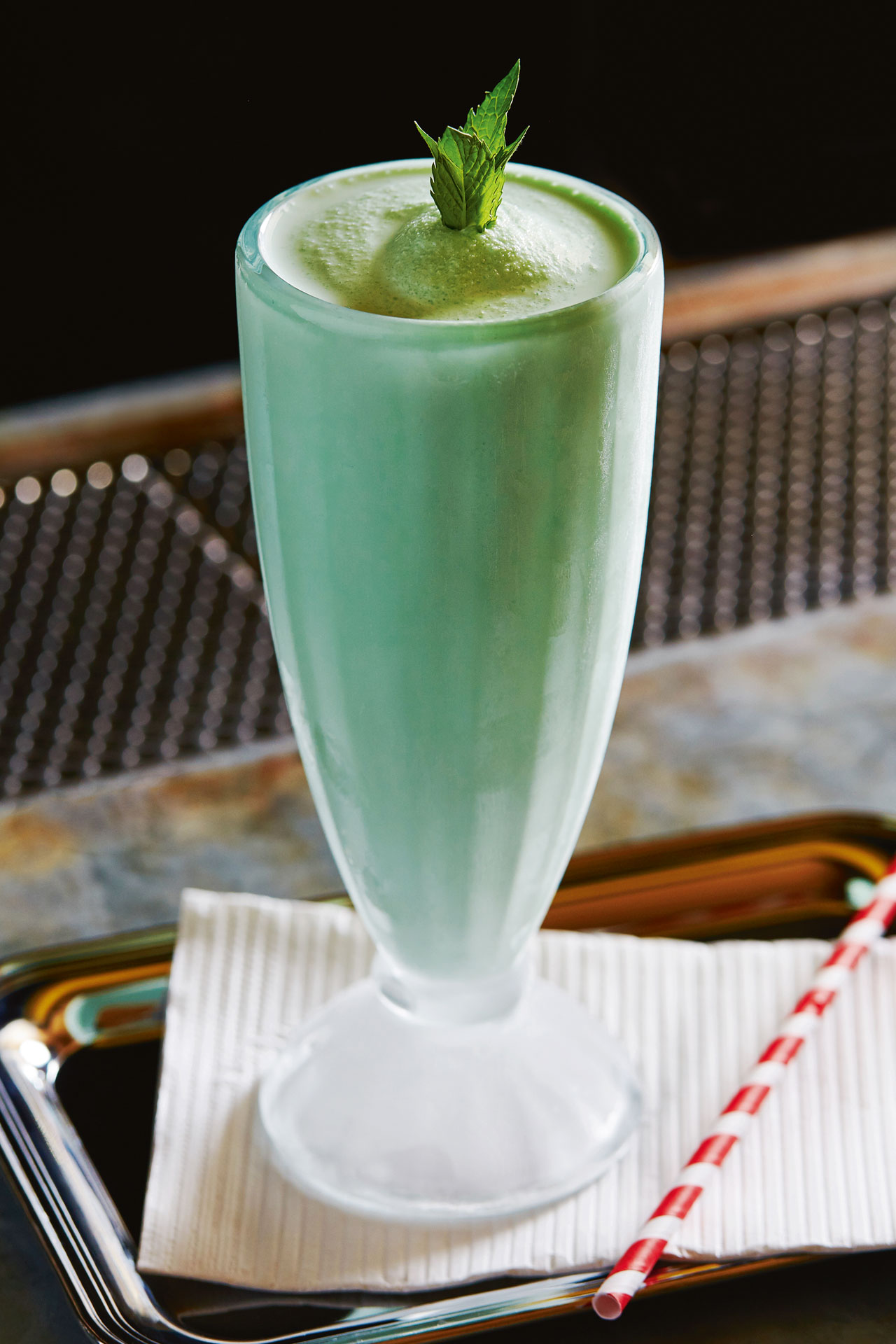 Jeffrey Morgenthaler's Grasshopper is a blended ice cream version of the classic cocktail