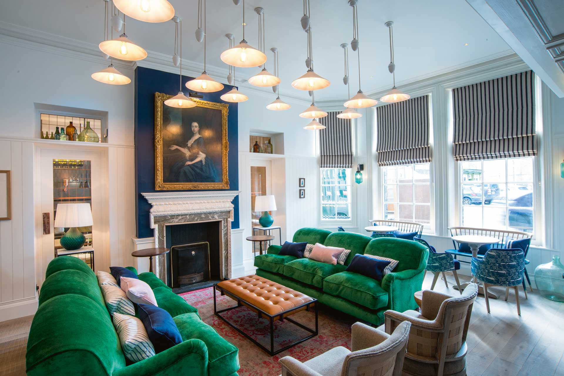 Hotel lounge for guests of The Swan in Southwold