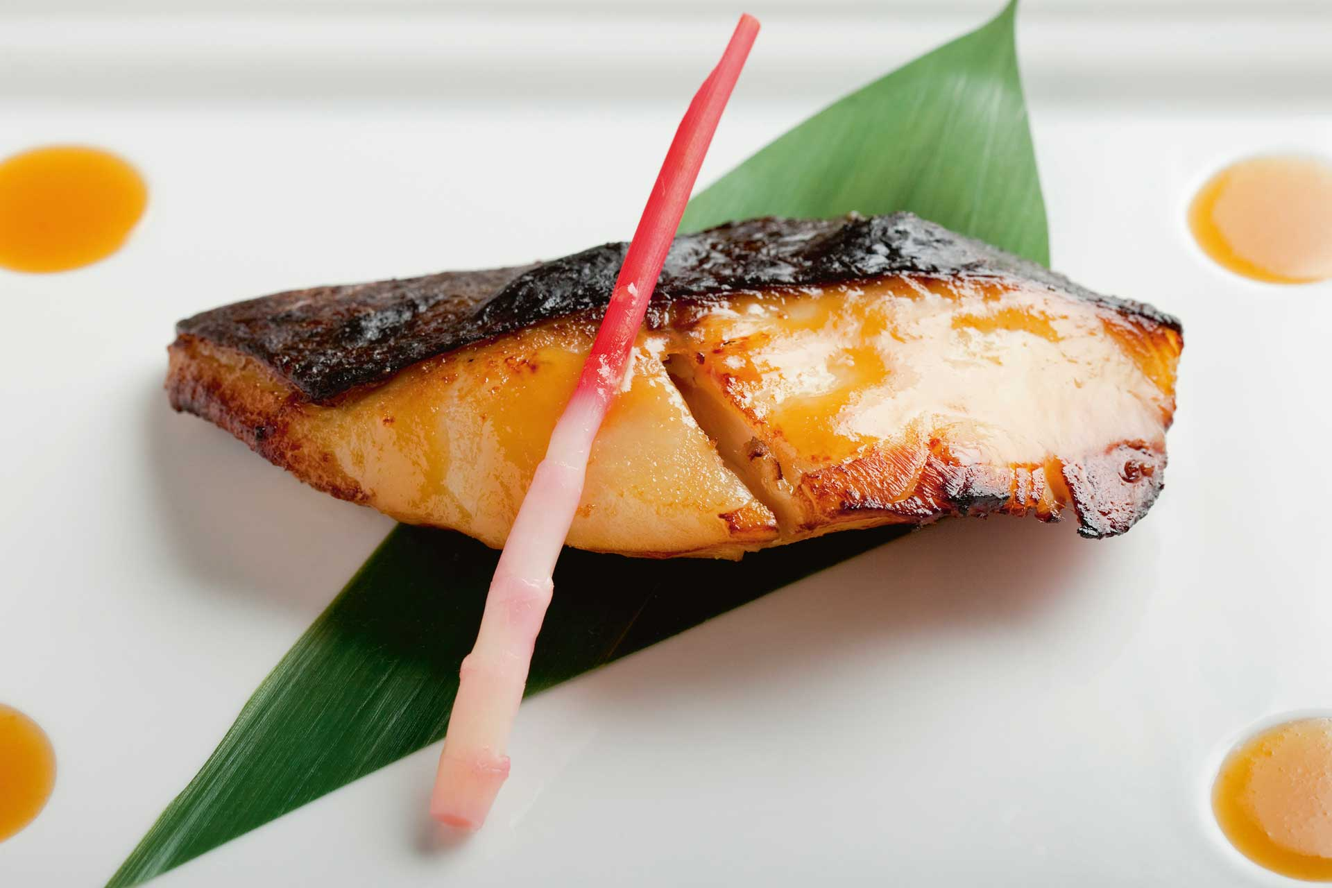 Chef Nobu Matsuhisa's signature dish miso-blackened cod