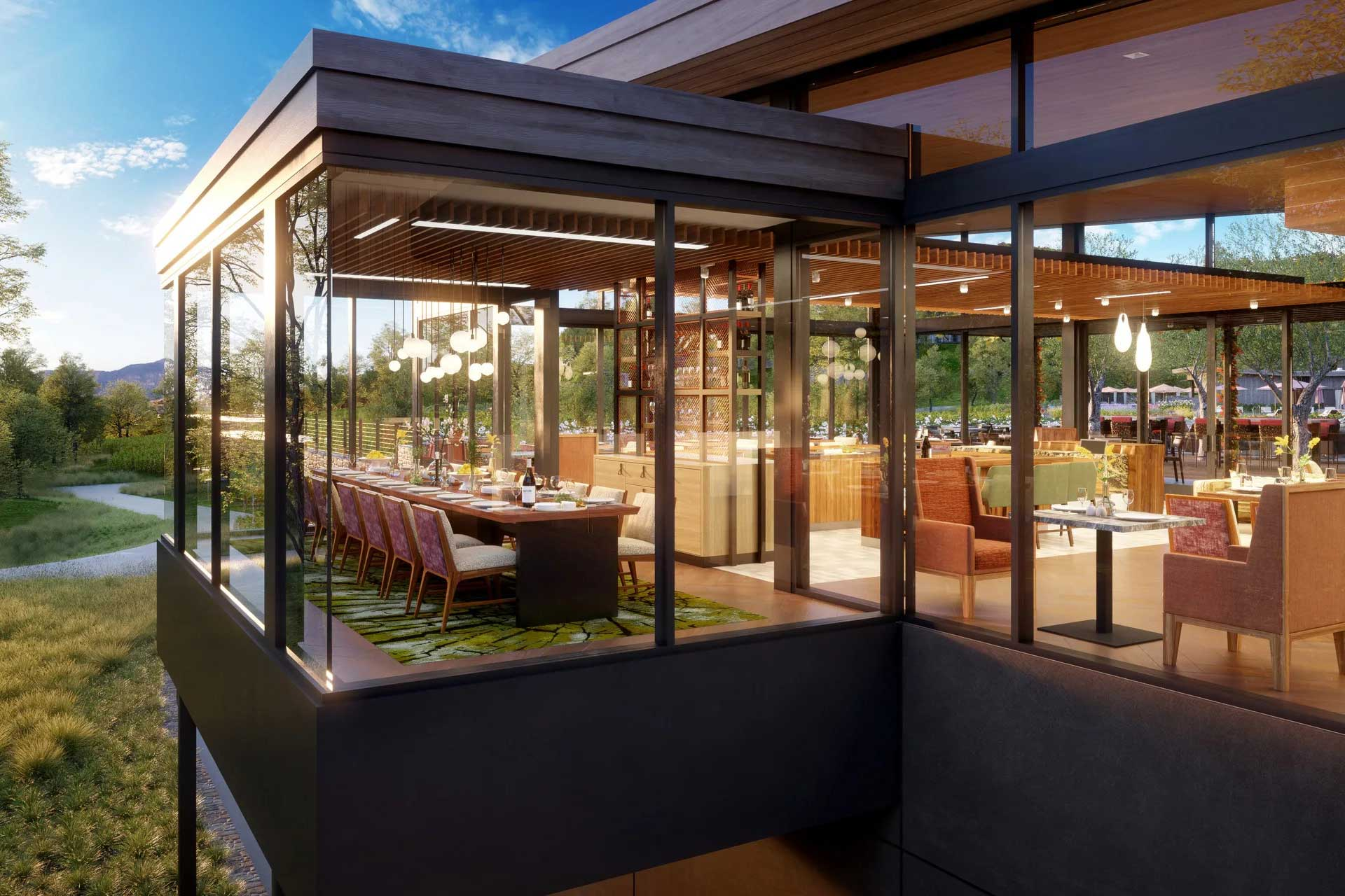 A treehouse-inspired dining room will anchor Montage Healdsburg's F&B offer