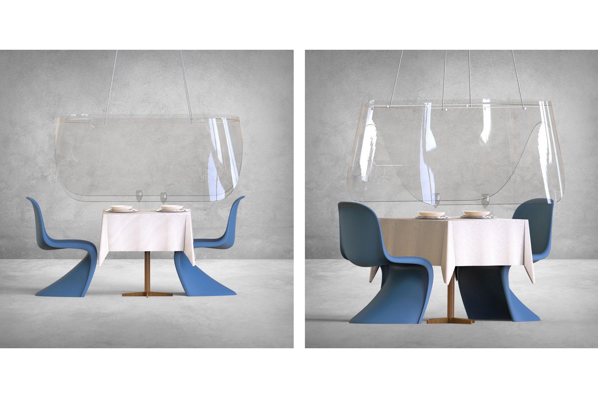 Christophe Gernigon Studio's Plex'Eat shields