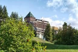 Badrutt's Palace hotel in St. Moritz, Switzerland